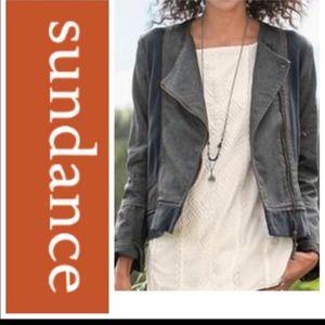 Sundance grey denim zipper jacket